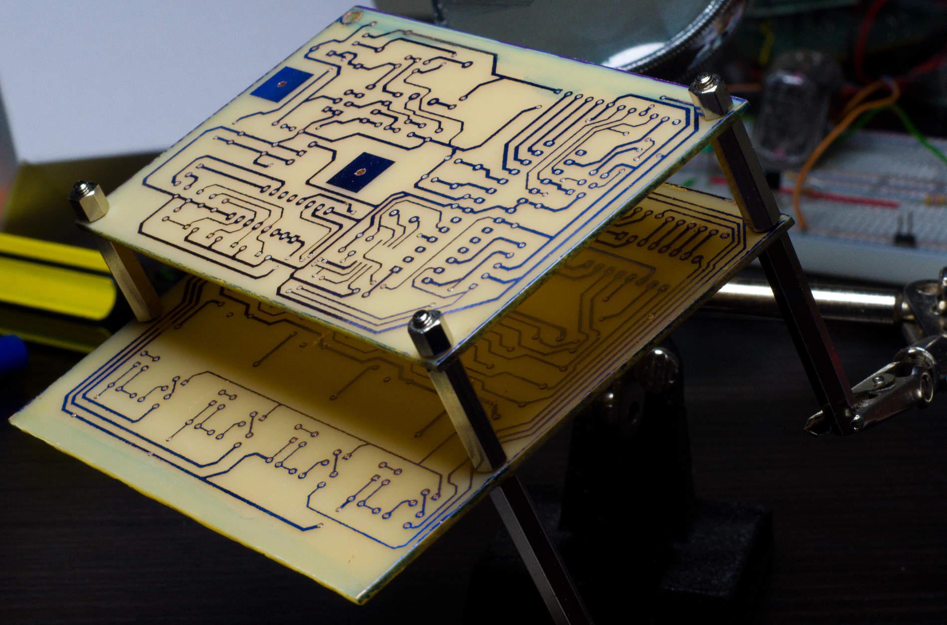 Jaerder Sousa Portfolio Nixie Clock Nixieclockschematic Alignment Check Before Resuming Assembly