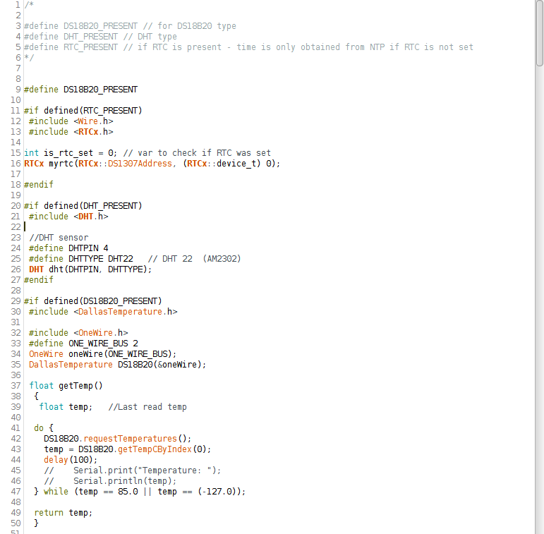Sample of the unified code for the ESP8266 module.
